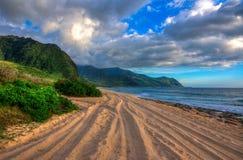 Västkusten av Oahu, Hawaii Royaltyfri Fotografi
