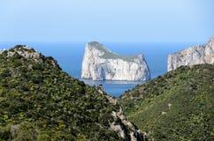 Västkusten av Sardinia Royaltyfria Bilder