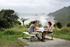 Västkusten - Nya Zeeland Arkivbild