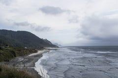 Västkusten, stranden, havet och horisonten Arkivbilder
