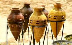 västra afrikansk krukmakeri Arkivfoto