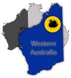 Västra Australien territorium och flagga Fotografering för Bildbyråer
