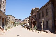 västra avlägsen town Arkivfoton