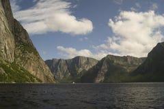 Västra bäckdammfjordar Arkivfoton