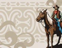 västra bakgrundsserie stock illustrationer