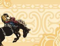 västra bakgrundsserie royaltyfri illustrationer