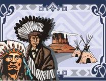 västra bakgrundsserie vektor illustrationer