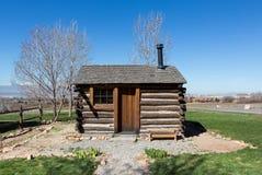 Västra banbrytande kabin för Förenta staterna Arkivfoto
