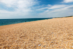 Västra Bexington strand Dorset Arkivbilder