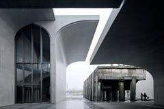 Västra Bund Shanghai Kina för långt museum Royaltyfria Foton