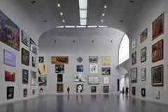 Västra Bund Shanghai Kina för långt museum Arkivfoto