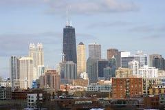 västra chicago centra sedd sida Fotografering för Bildbyråer