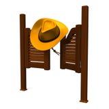 Västra dörr och hatt Royaltyfri Foto