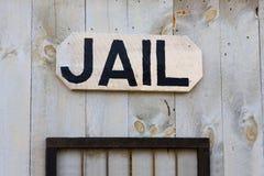 västra danat gammalt tecken för arrest Arkivbild
