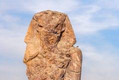 Västra eller södra koloss av Memnon, Luxor, Egypten Arkivfoto
