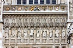 Västra fasad, Westminster abbotskloster, London Royaltyfri Bild