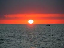 västra florida key solnedgång Arkivfoto