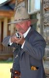 västra gammal sheriff arkivfoto