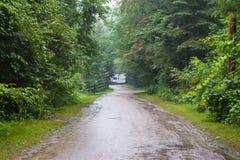 Västra grusväg Arkivbild
