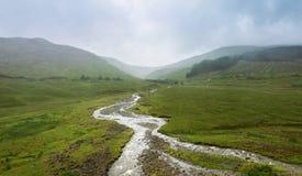 Västra höglands- väg, Skottland, UK, berg Arkivbilder