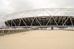 Västra Ham United New Stadium, Stratford Arkivfoto