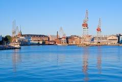 Västra hamn av Helsingfors Royaltyfri Fotografi