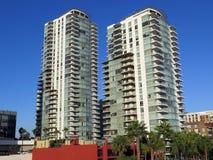 Västra havandelslägenheter, Long Beach CA Arkivfoton