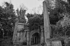 Västra Highgate för egyptisk aveny kyrkogård Arkivbilder
