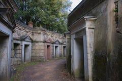 Västra Highgate för Libanon cirkel kyrkogård Arkivbild