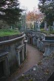 Västra Highgate för Libanon cirkel kyrkogård Royaltyfri Bild