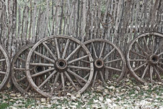 västra hjul för gammal vagn Royaltyfri Bild