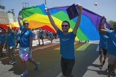 Västra Hollywood, Los Angeles, Kalifornien, USA, Juni 14, 2015, 40th årliga bög Pride Parade för LGBT-gemenskap, ner Santa Monica Arkivbild