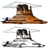 västra illustrationserie Arkivbilder
