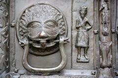 Västra ingångsportar för berömd brons av den StSophia domkyrkan Arkivbild