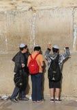 västra israel jerusalem vägg Arkivfoto
