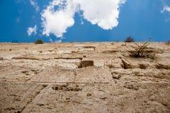 västra israel jerusalem vägg Arkivbild