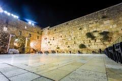 västra israel jerusalem vägg Fotografering för Bildbyråer