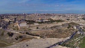Västra Jerusalem flyg stock video
