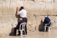 västra jerusalem vägg Arkivbild