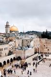 västra jerusalem vägg arkivfoto