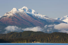 Västra Juneau som beskådas från Douglas Island Royaltyfria Foton