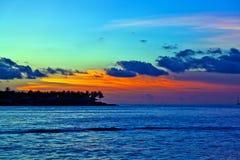 västra key solnedgång arkivbilder