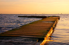 västra kirby solnedgång Royaltyfri Foto