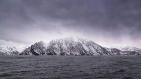 Västra kust av halvön Koni Arkivfoton