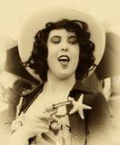 västra kvinna för stil Arkivbilder
