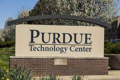 Västra Lafayette - Circa April 2017: Purdue teknologimitt Denna lätthet är den original- kuvösen av Purdue som forskning parkerar arkivfoto