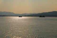Västra Lake Hangzhou Forntider som är forntida royaltyfria bilder