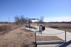 Västra Memphis Arkansas Big River Trail parkerar arkivfoto