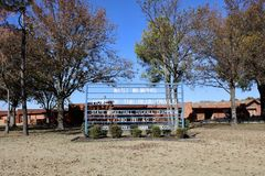 Västra Memphis High School, västra Memphis, AR royaltyfri fotografi