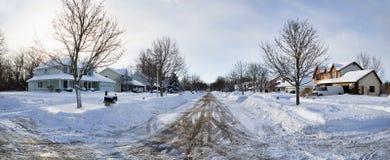 Västra New York vinter Fotografering för Bildbyråer
